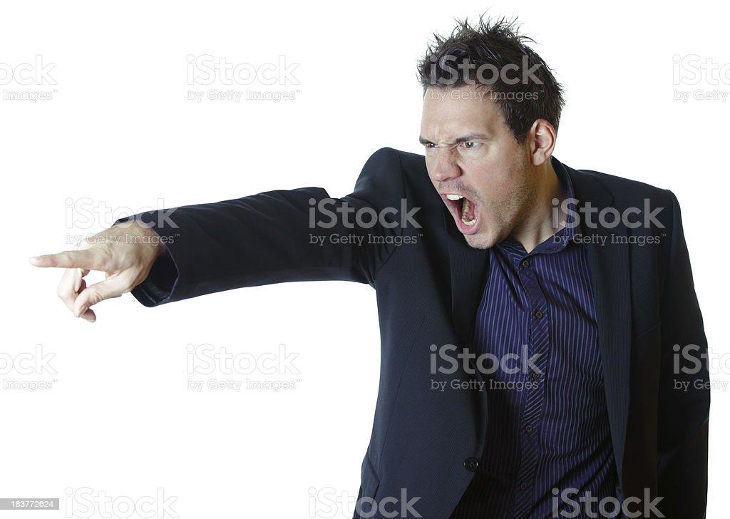 Businessman yelling royalty-free stock photo