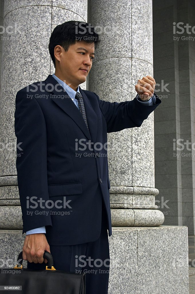 Businessman/Lawyer With An Appointment royalty-free stock photo