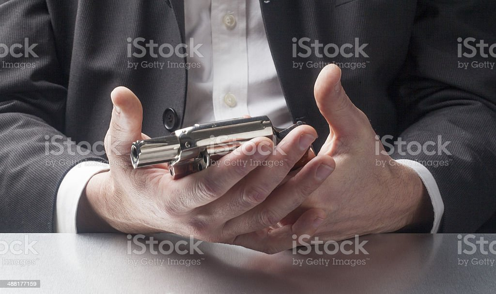 businessman's burn-out stock photo