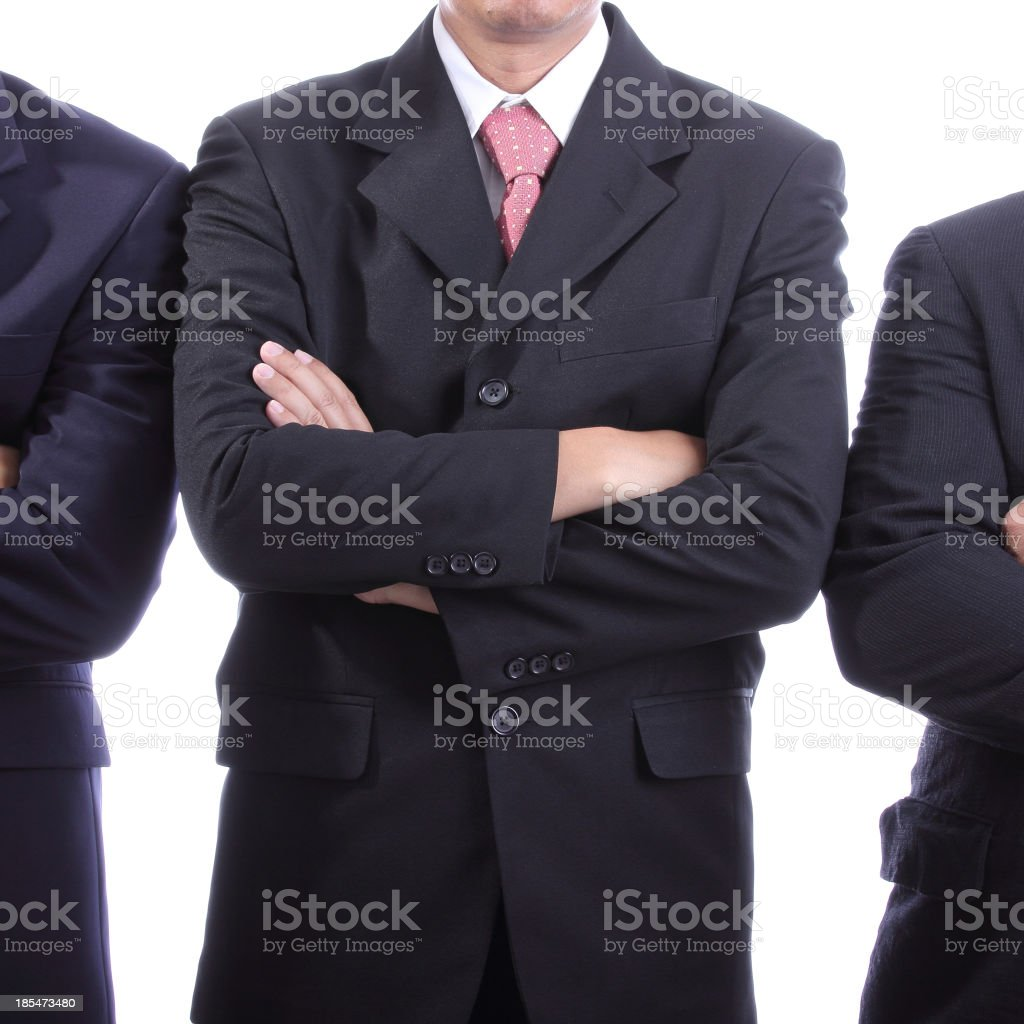 Businessmans Cross one's arm for show vision royalty-free stock photo