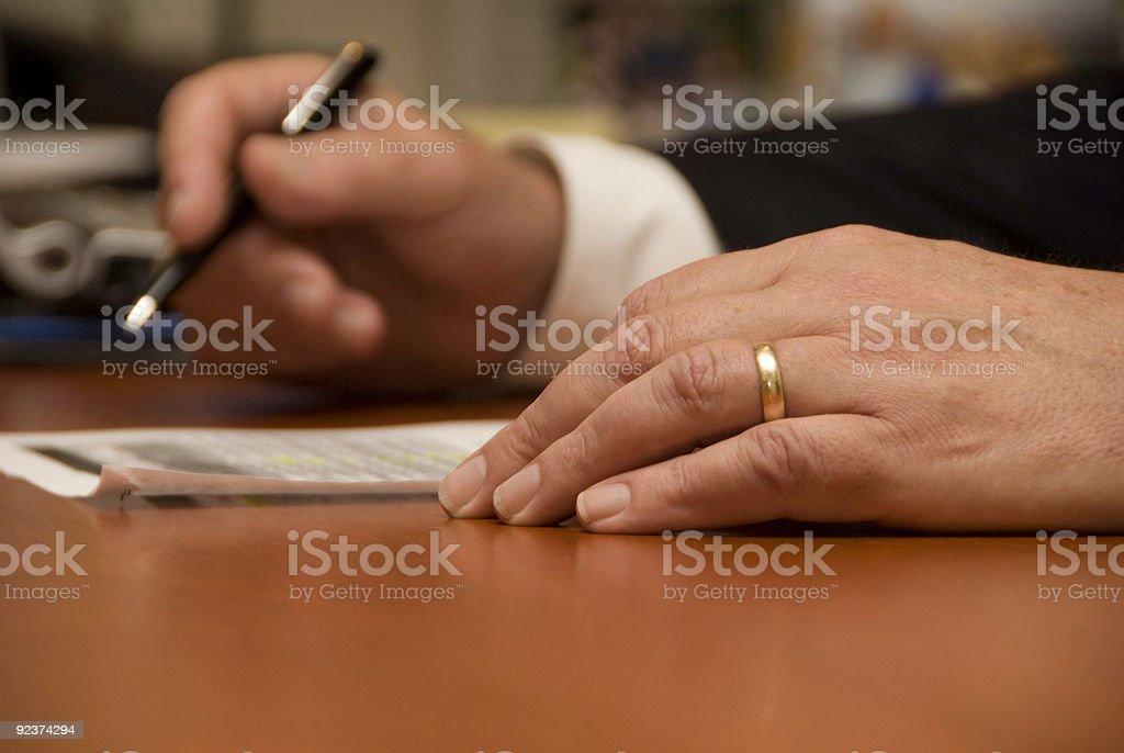 Geschäftsmann die Hände Lizenzfreies stock-foto