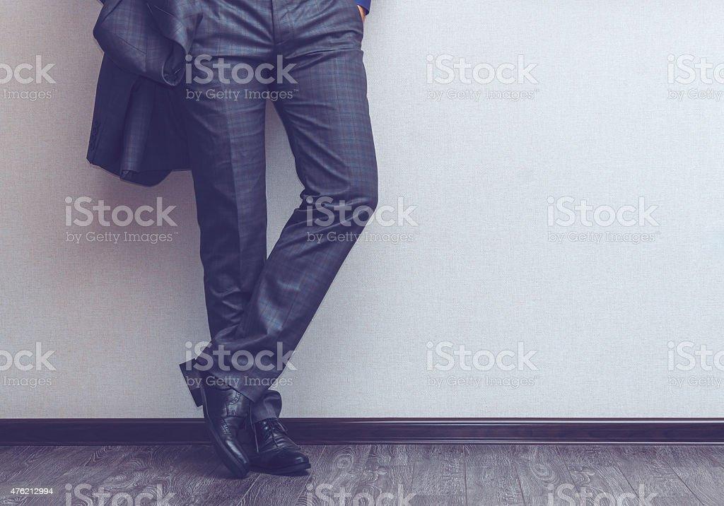 Businessman's legs royalty-free stock photo