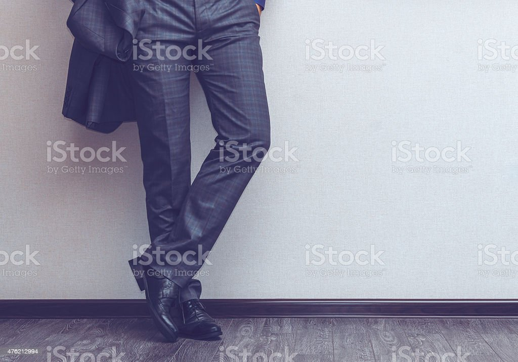 Businessman's legs stock photo