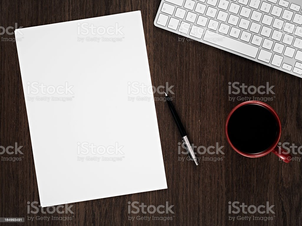 Businessman's Table royalty-free stock photo