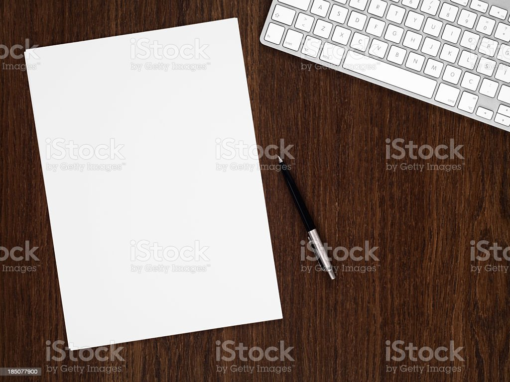 Businessman's Table stock photo