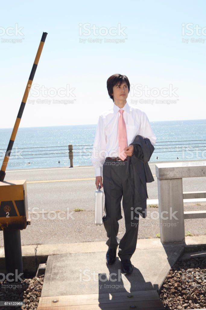 跨線的商人 免版稅 stock photo