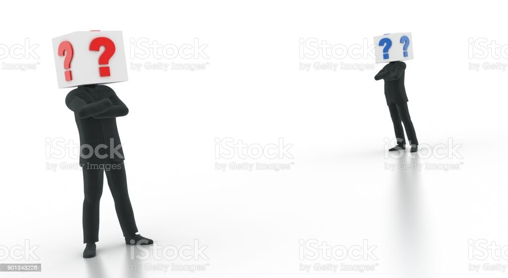 Businessmen and business strategy stock photo