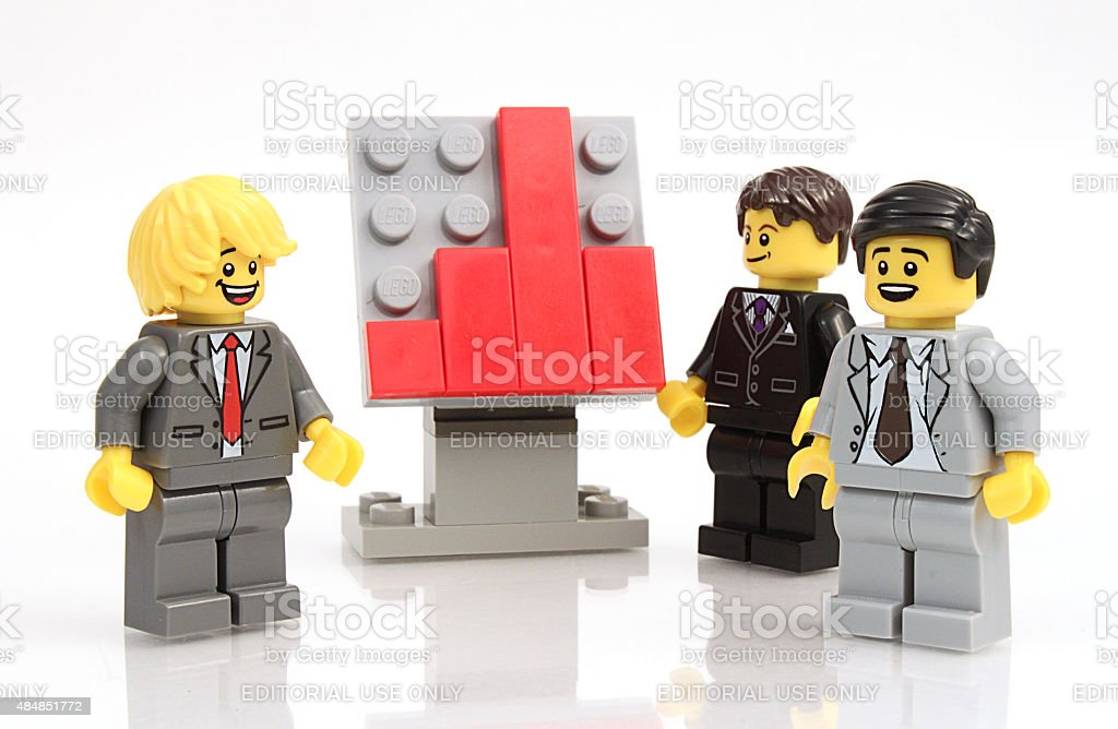 Businessmen and Graph stock photo