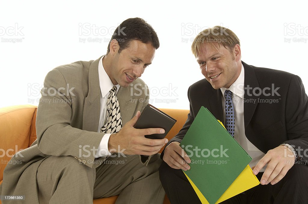Businessmen chat royalty-free stock photo