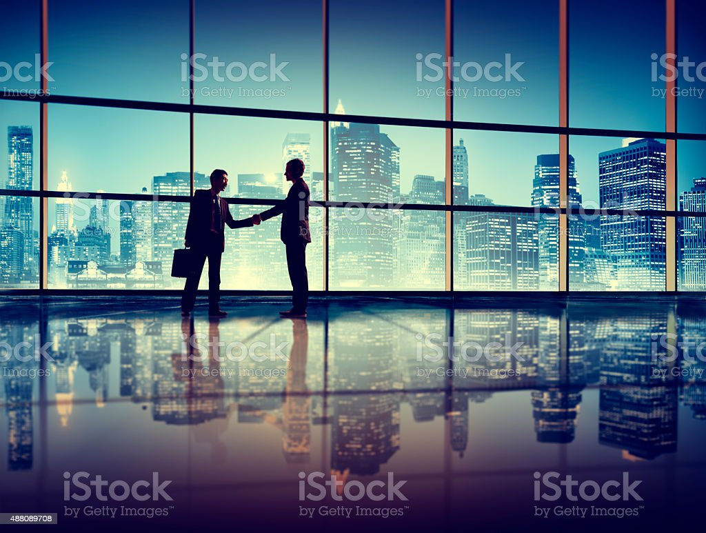 Businessmen Deal Business Handshake Greeting Concept stock photo