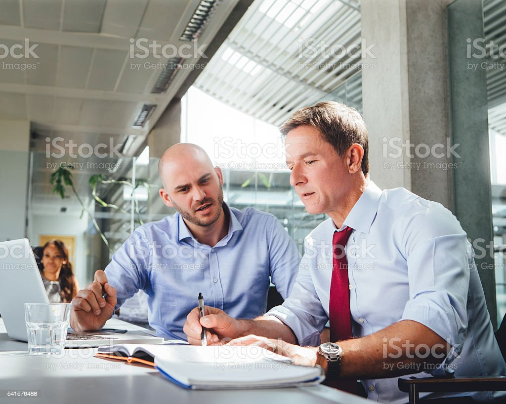 Businessmen Discussing Plans stock photo