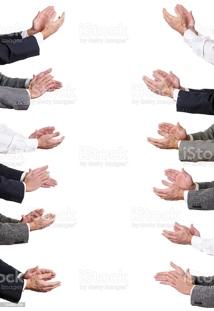 Businessmen Hands Clapping.Copy Space. royalty-free stock photo