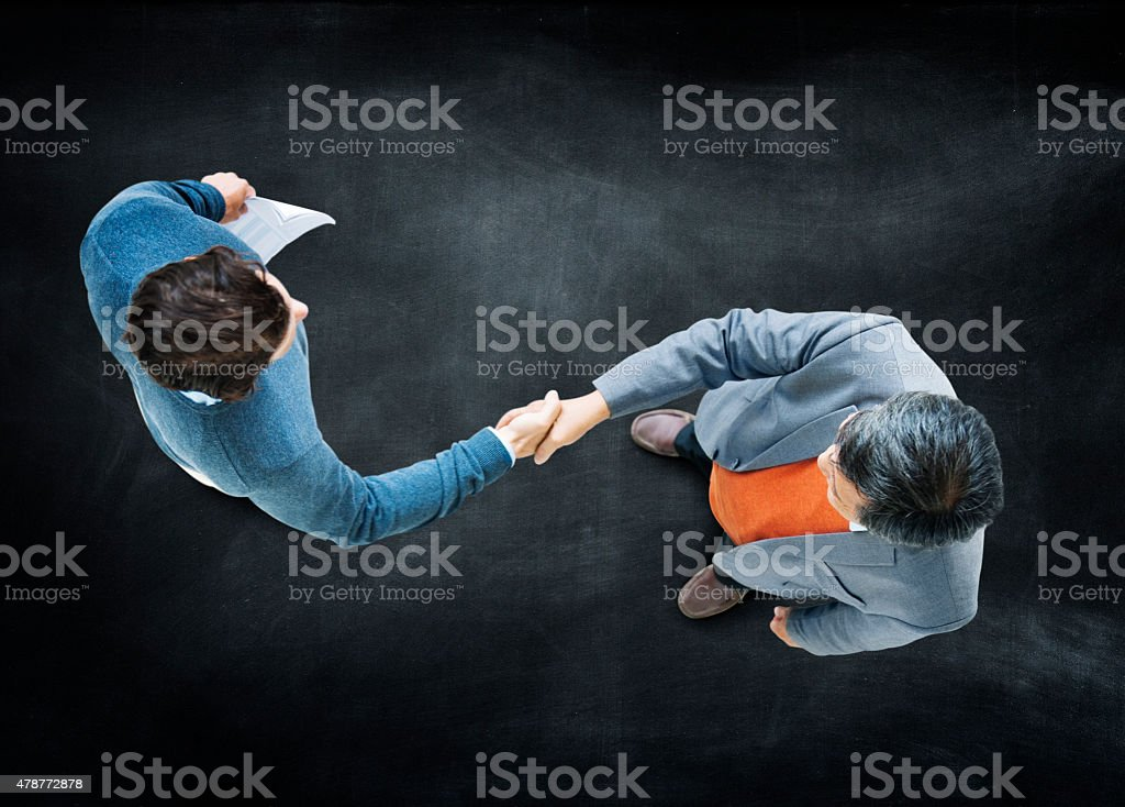 Businessmen Handshake Corporate Partnership Concept stock photo