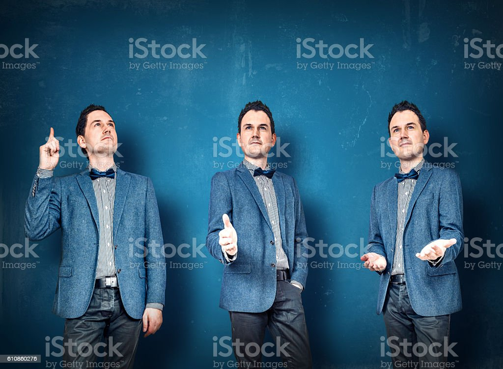Businessmen in blue suit stock photo