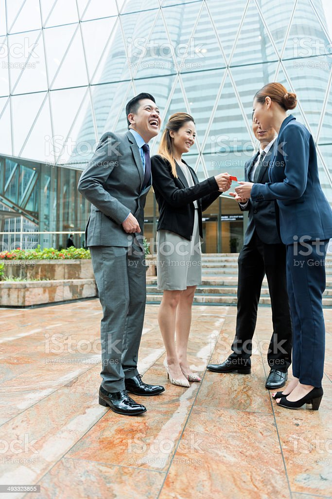 Businessmen in Hong Kong, China. royalty-free stock photo