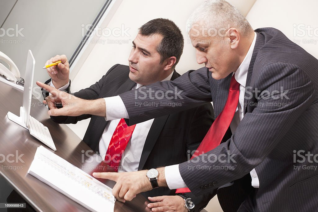 Businessmen in office royalty-free stock photo