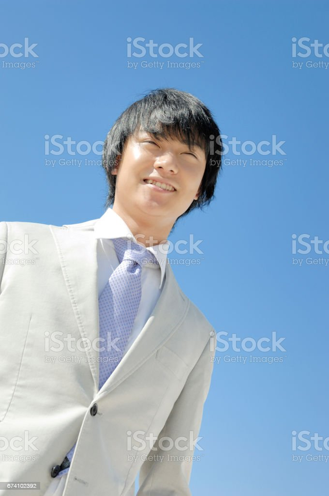 Businessmen is laugh royalty-free stock photo
