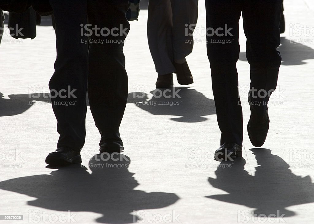businessmen on their way to the office royalty-free stock photo