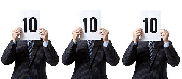 Businessmen - Perfect Score! Businessmen - Perfect Score!  scoring stock pictures, royalty-free photos & images