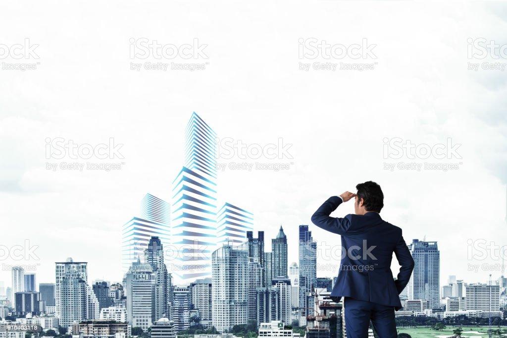 Geschäftsleute sehen die Stadt. – Foto