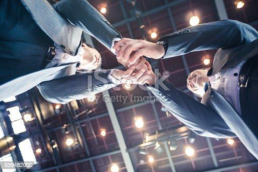 istock Businessmen shaking hands in agreement over a profitable venture. 539482000
