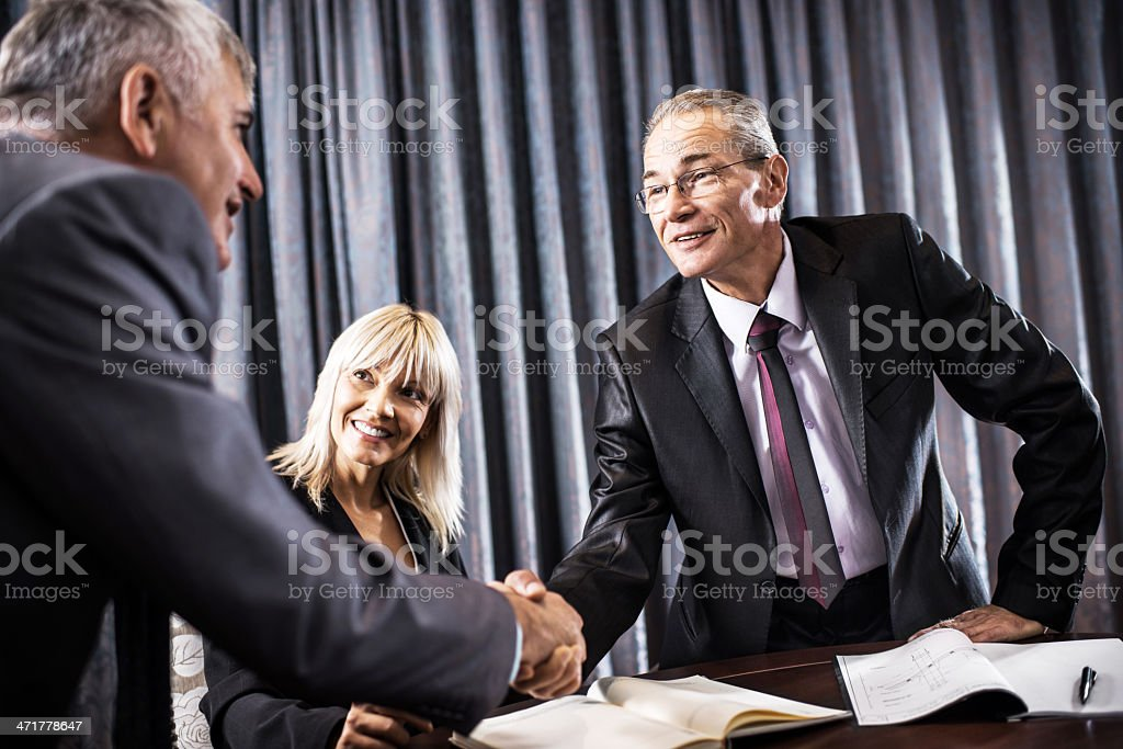 Businessmen shaking hands. royalty-free stock photo