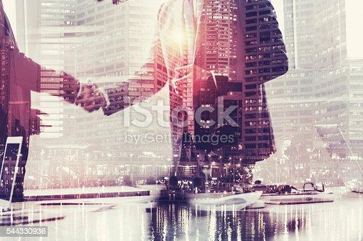 istock Businessmen shaking hands. 544330936
