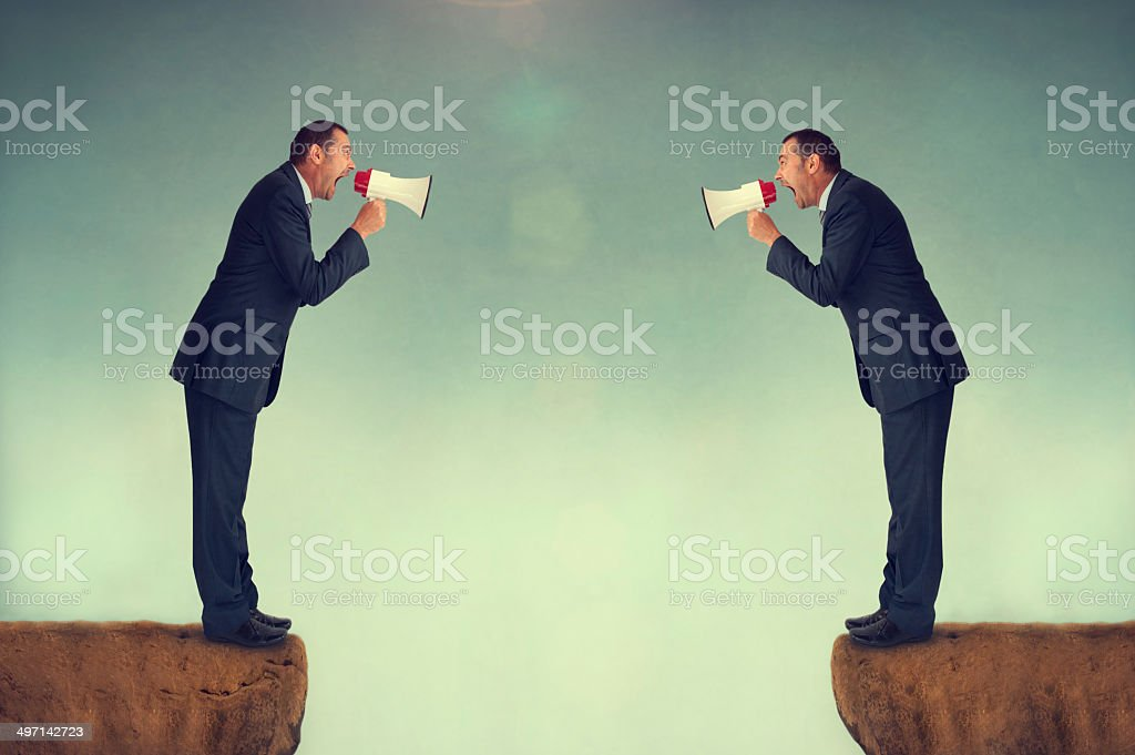 businessmen shouting stock photo