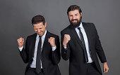 Businessmen successful meeting