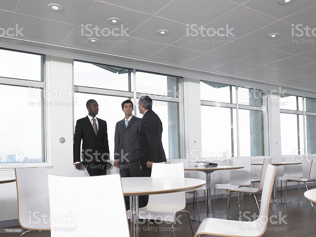 Businessmen talking royalty-free stock photo