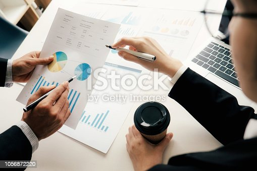 istock Businessmen teamwork meeting to discuss the investment. 1056872220