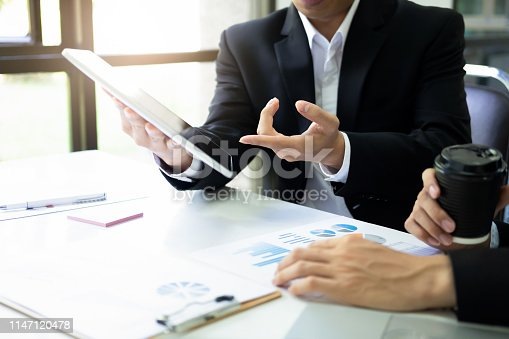 istock Businessmen teamwork meeting to discuss the investment. 1147120478