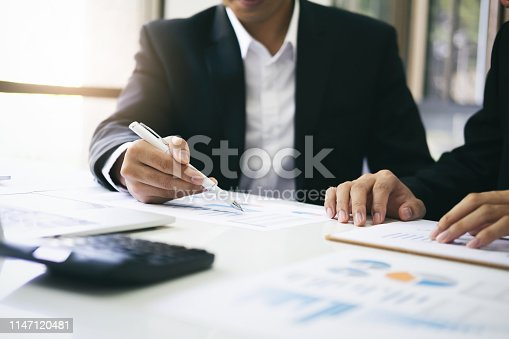 istock Businessmen teamwork meeting to discuss the investment. 1147120481