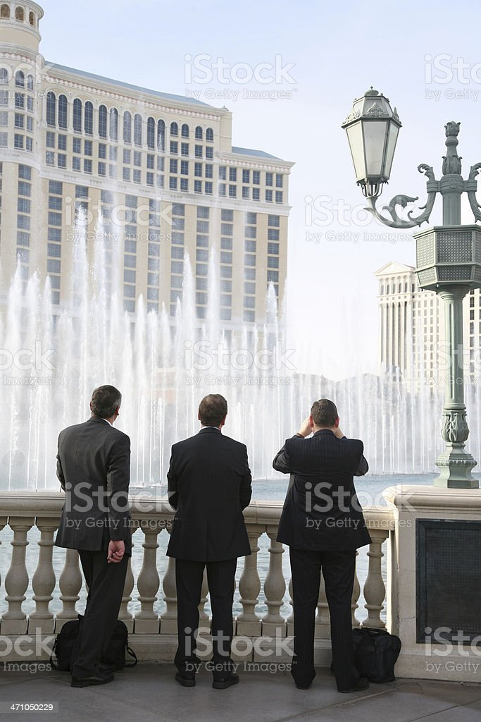 Businessmen Watching Fountain Display royalty-free stock photo