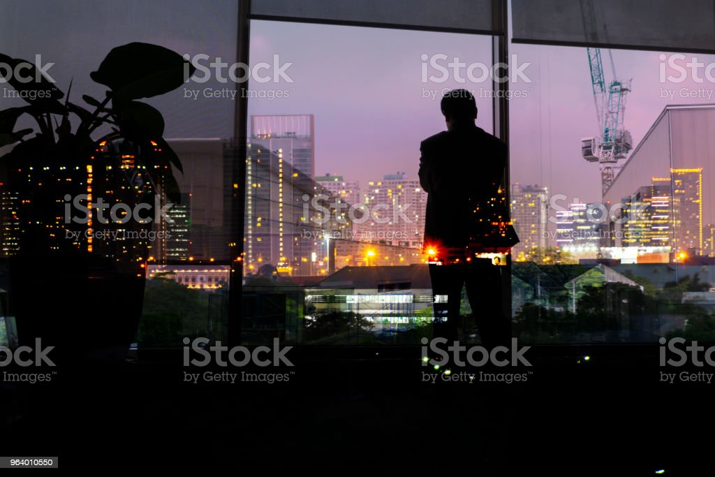 Businessmen who are thinking about investing - Royalty-free Agreement Stock Photo