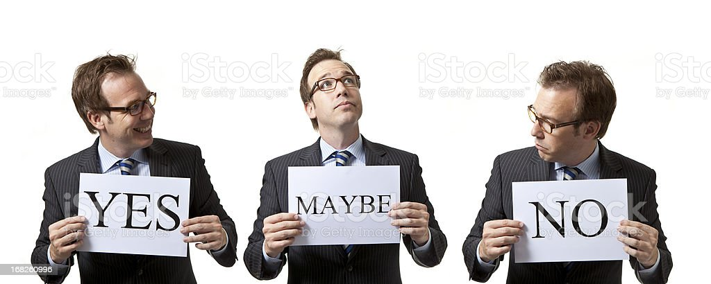 Businessmen with different opinions royalty-free stock photo