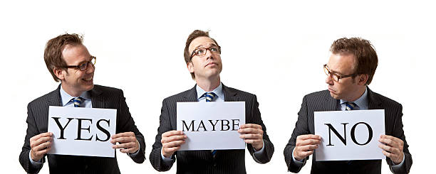 Businessmen with different opinions Businessmen with different opinions yes single word stock pictures, royalty-free photos & images