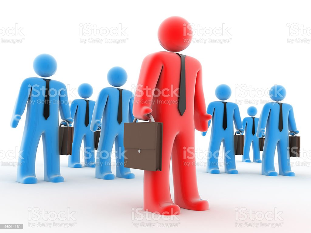 Businessmen with suitcase royalty-free stock photo
