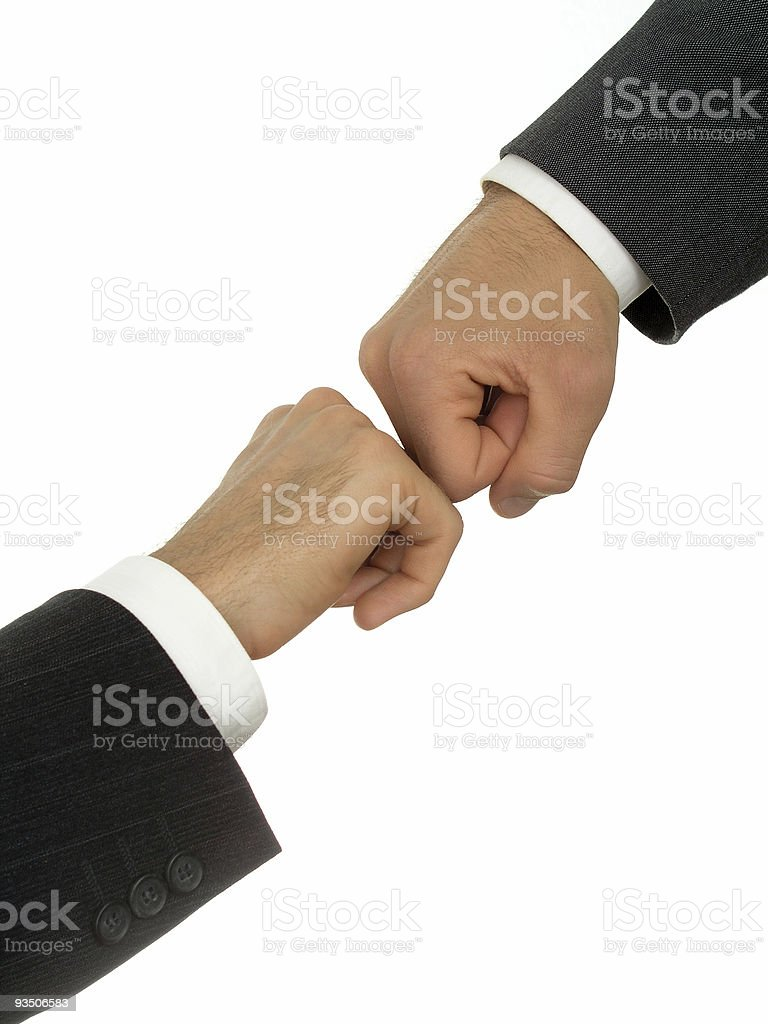 Businessmen's hands fighting royalty-free stock photo