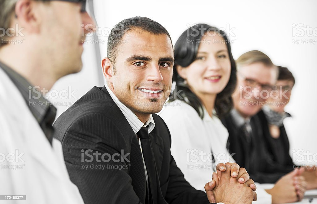 Businesspeople and doctors on a conference. royalty-free stock photo