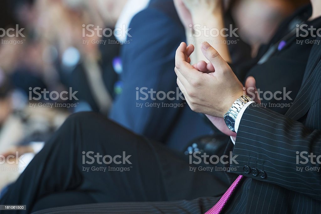 Businesspeople applauding royalty-free stock photo