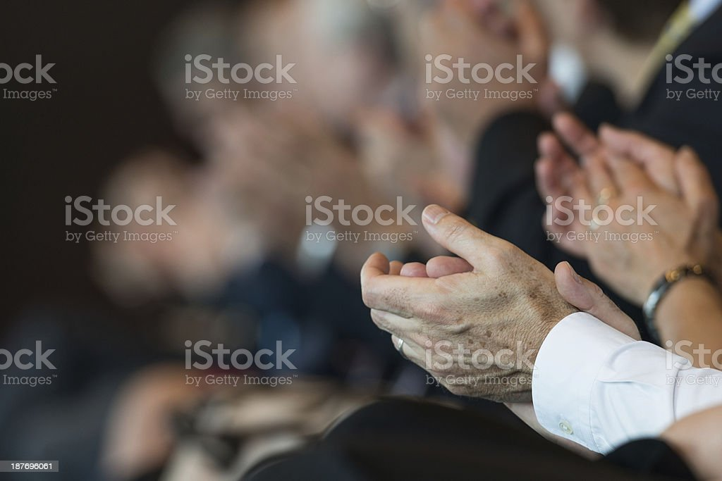 Businesspeople applauding stock photo
