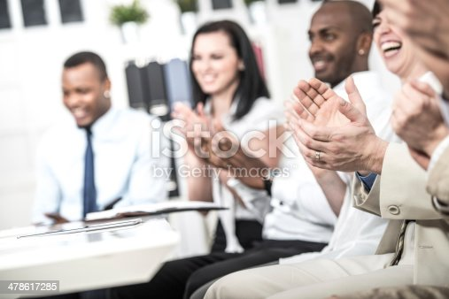 511305456 istock photo Businesspeople applauding 478617285
