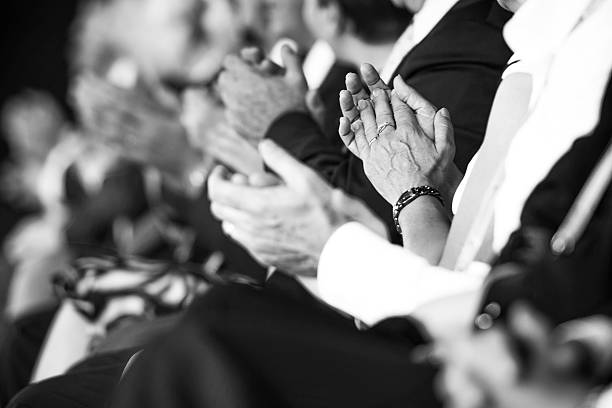 businesspeople applauding - audience clapping stock photos and pictures