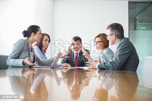 istock Businesspeople arguing in meeting 519407057