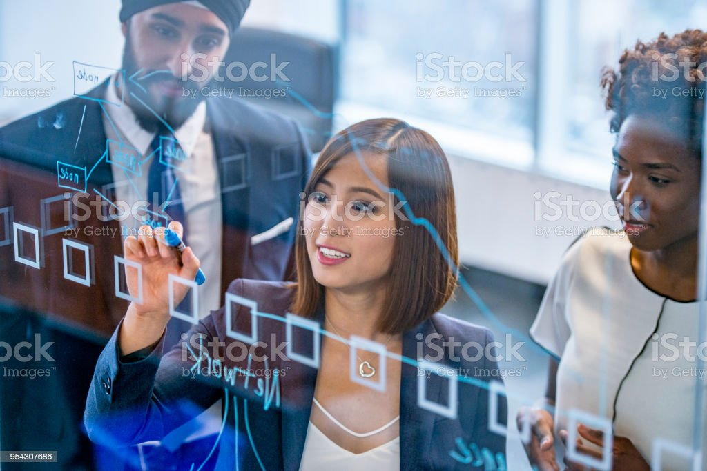Business woman in leadership - stock photo