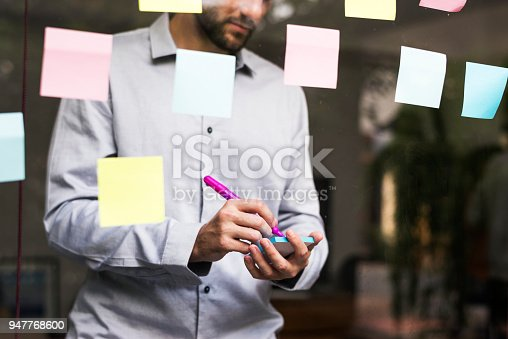 950560696 istock photo Businesspeople brainstorming with creative ideas 947768600