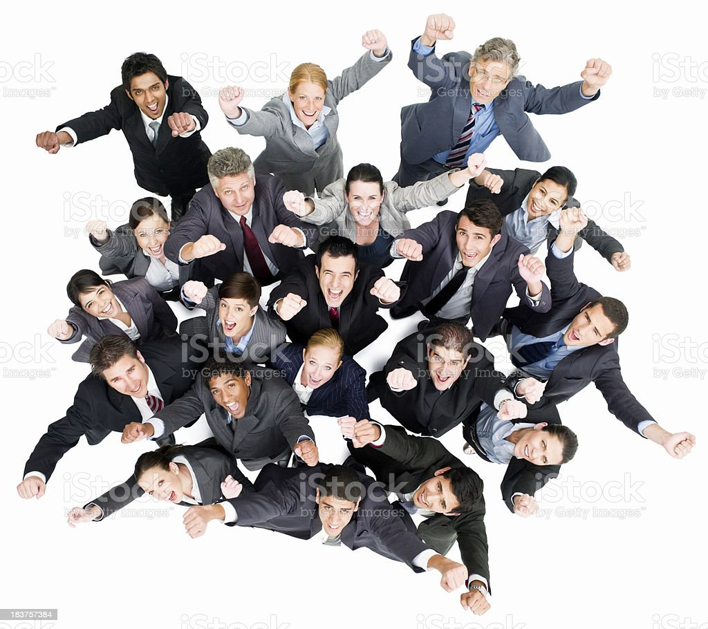 Businesspeople Cheering - Isolated royalty-free stock photo