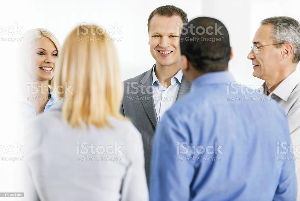 Businesspeople communicating. royalty-free stock photo