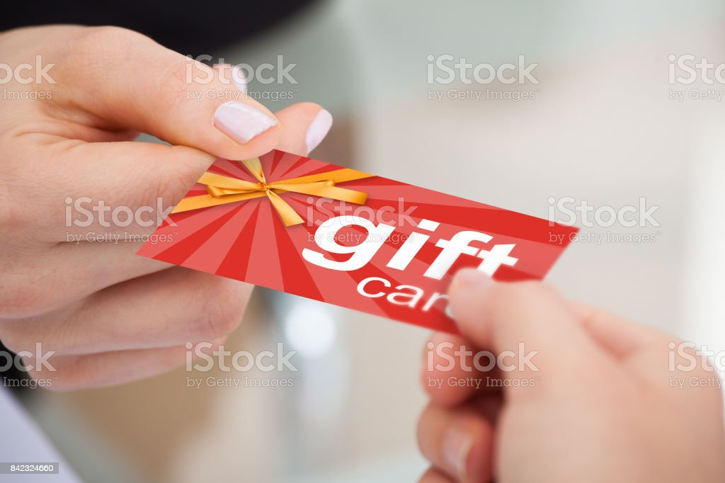 Businesspeople Exchanging Visiting Card stock photo